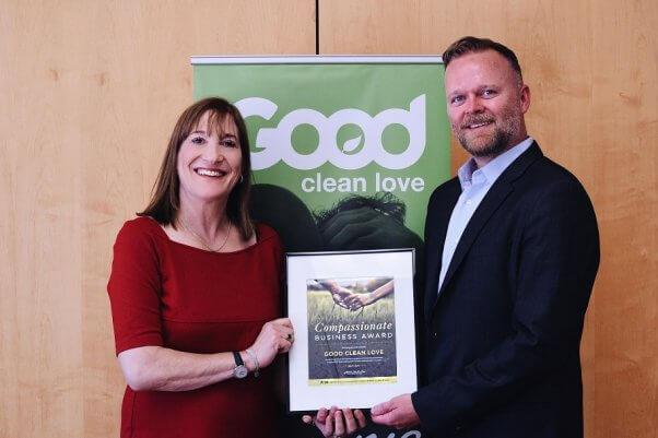 good clean love compassionate business award from peta, peta international science consortium 5 year anniversary, pisc prize, non-animal testing