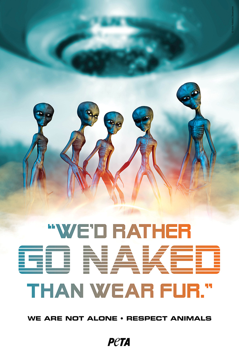 I would rather go naked than wear fur - SPA Canada - Promote the respect of animals