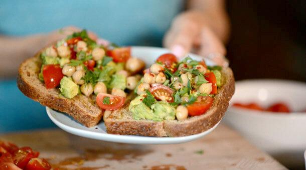 Avocado Toast With Garbanzo Beans | PETA