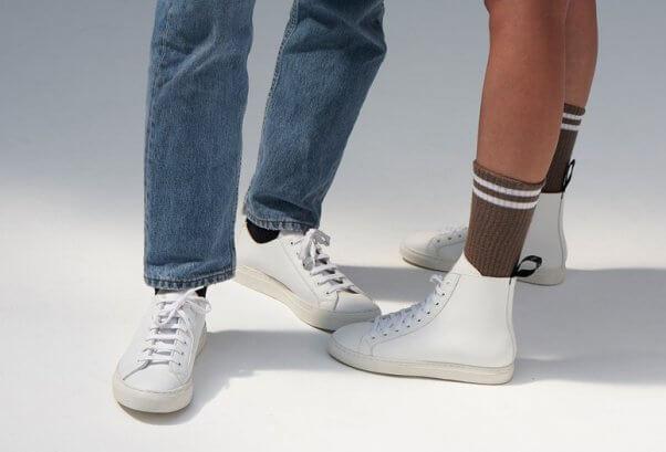 wack white microfiber sneakers by good guys