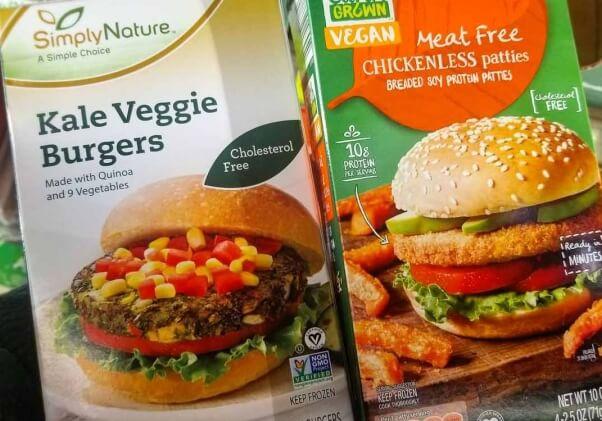 earth grown burgers - new vegan at aldi