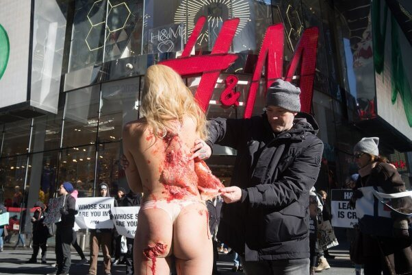 leather is a rip-off demo, times square