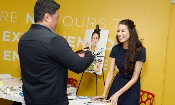 Chloe signs a copy of Chloe Flvor