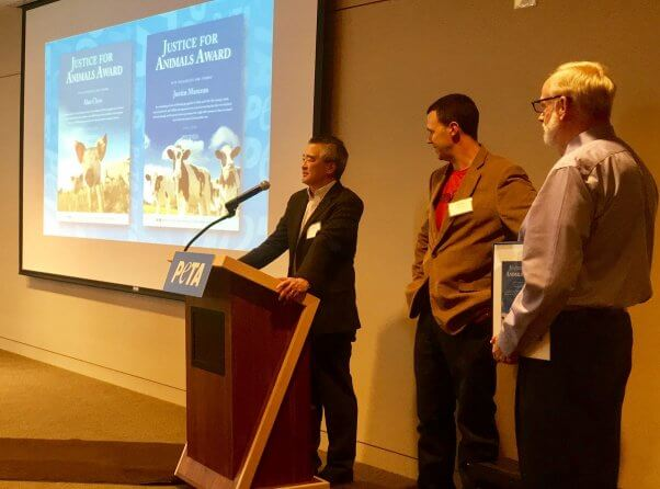 lawyers, attorneys, law professors, justice for animals award, fighting ag-gag, peta fundraiser