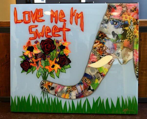 """Love Me I'm Sweet"" -- artwork for PETA by artist Daniel Mazzone"
