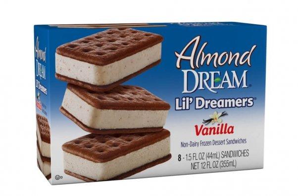 vegan ice cream sandwiches from almond dream