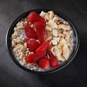 vegan food at starbucks: overnight grains
