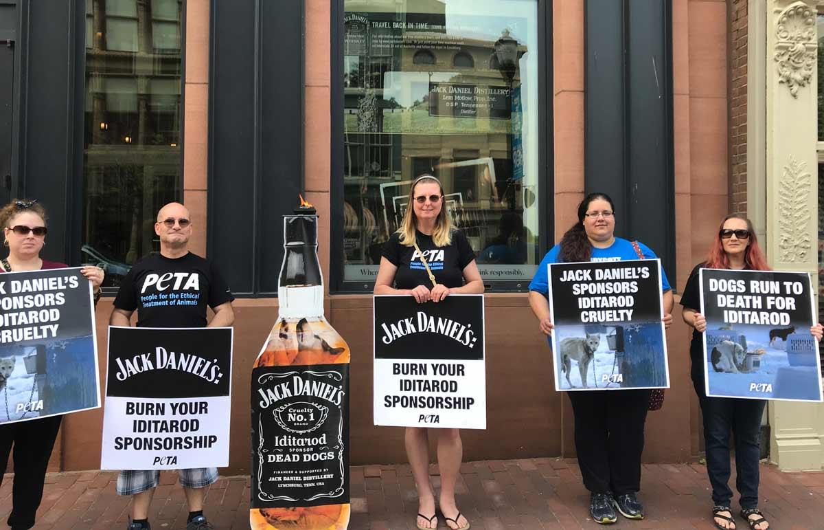 peta jack daniels protest 2018