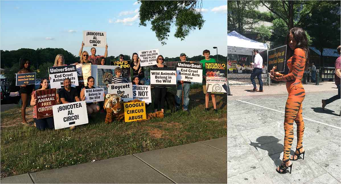 UniverSoul Circus protest in Charlotte, NC (2018)