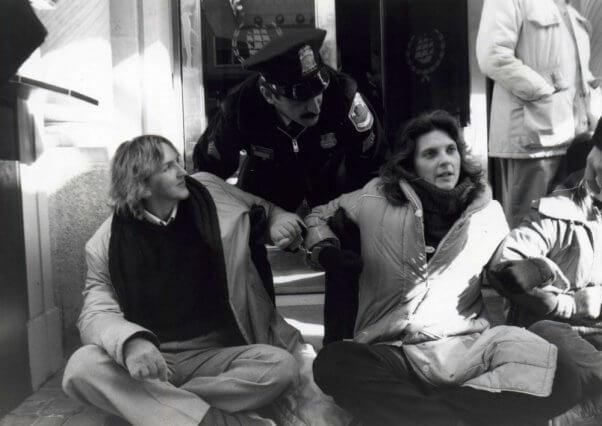 Neiman Marcus sit-in fur demo