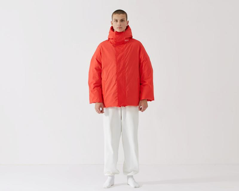 pangaia collective flower down puffer jacket