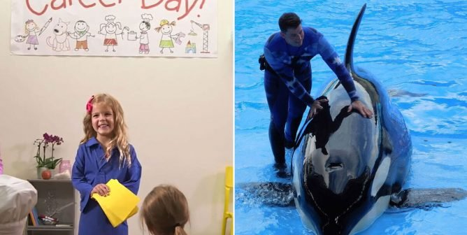 It's Career Day, and This Poor Little Girl's Dad Is a SeaWorld Orca Trainer