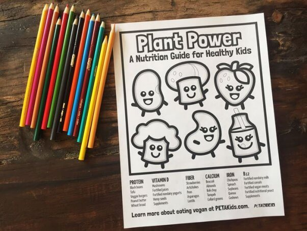 Plant Power A Nutrition Guide for Healthy Kids coloring sheet