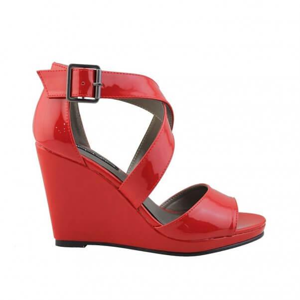 Michael Antonio Red Wedge Shoes