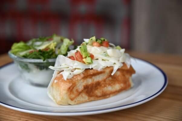 vegan 'lobster' roll from sailor jack's in kansas city