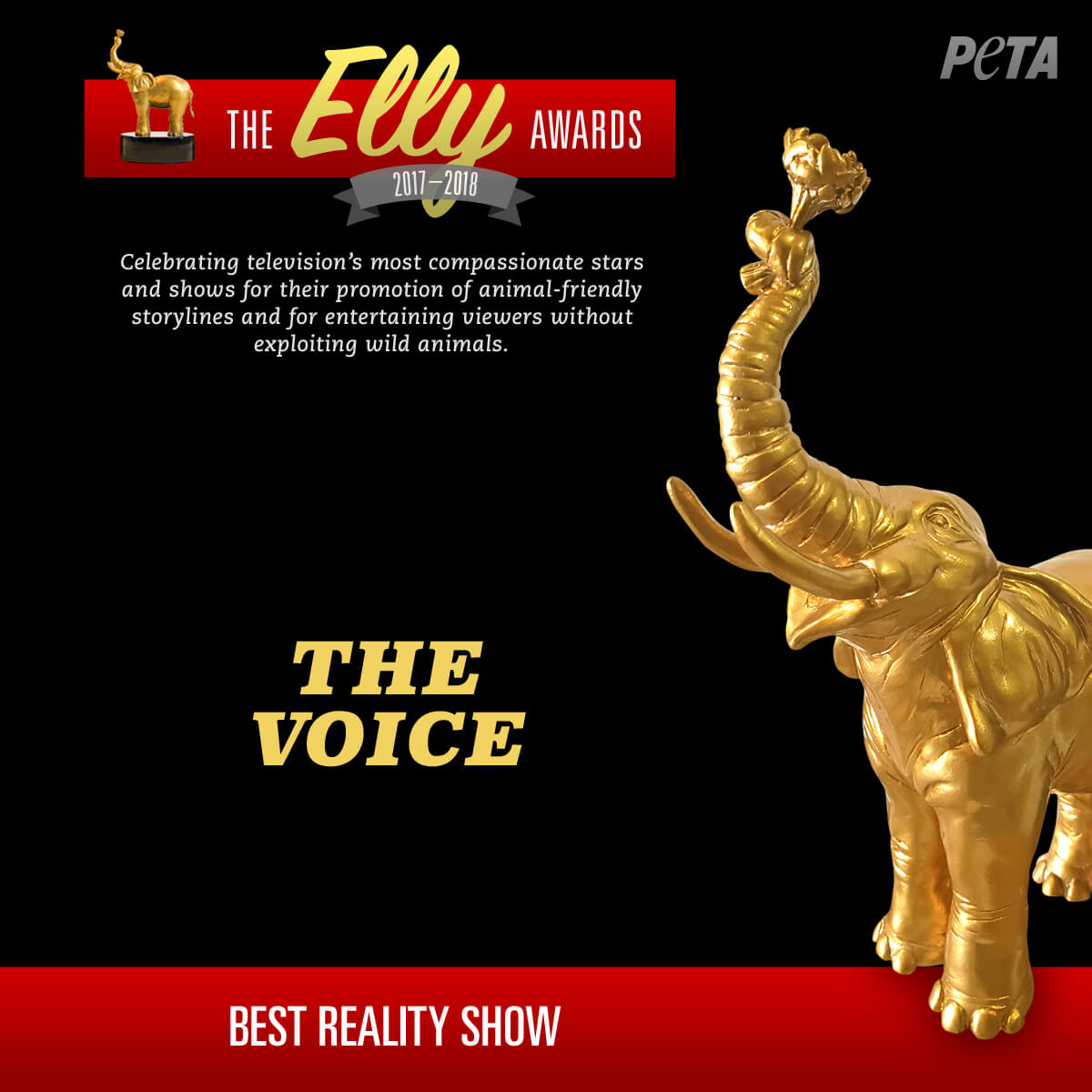 PETA Honors Compassion on TV With the Elly Awards | PETA