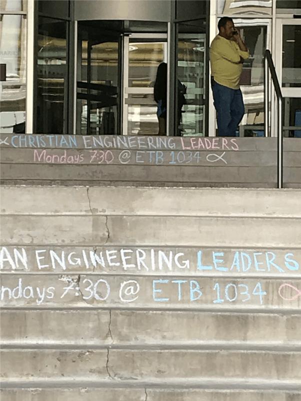 texas A&M matt bruce sidewalk chalk message