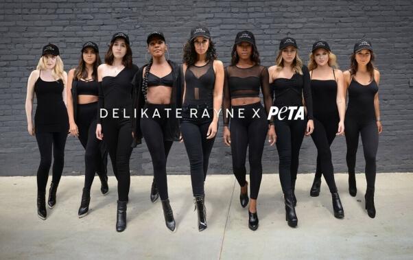delikate rayne x PETA fashion collaboration