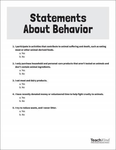 Cognitive Dissonance And How We Treat Animals Grades 6 12 Peta