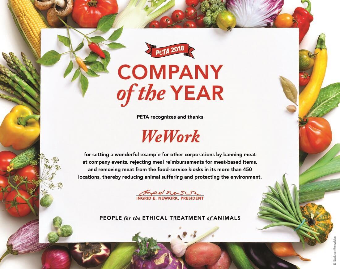 PETA's 2018 Company of the Year