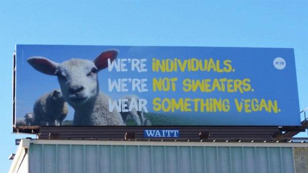 PETA Wear Something Vegan Ad Omaha 2018