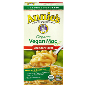boxed vegan mac and cheese from annie's homegrown