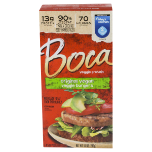 find vegan boca burgers at meijer