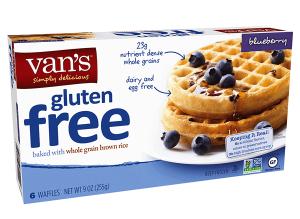 vegan frozen waffles from vans are sold at Meijer