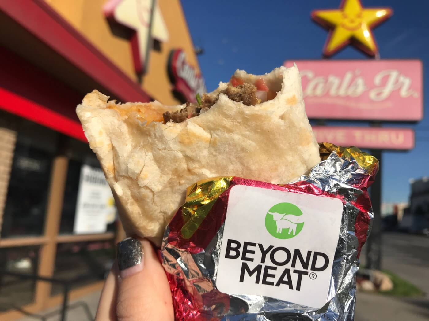 Carl's Jr. Beyond Sausage Breakfast Burrito