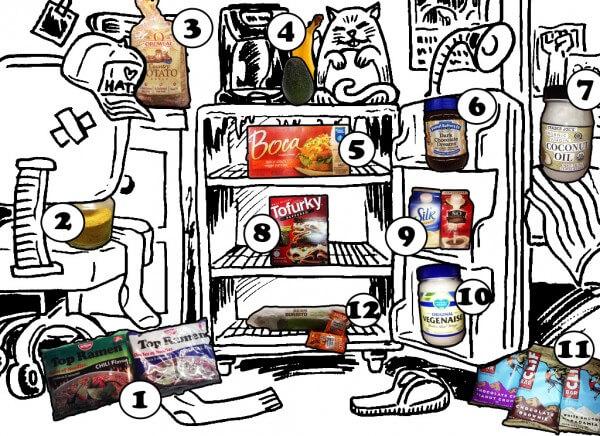 12 dorm room staples, vegan food for dorm