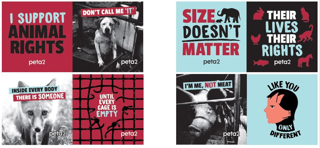 like you only different, peta stickers, free