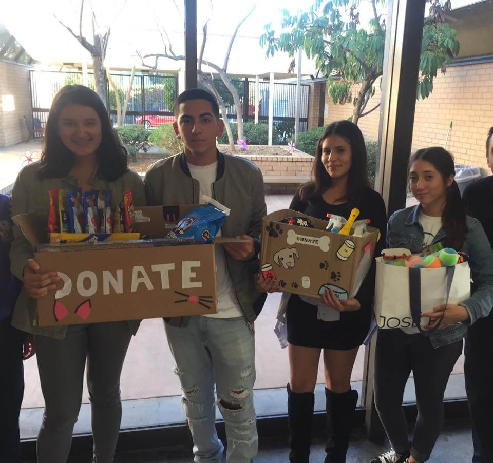 Students donation drive shelter