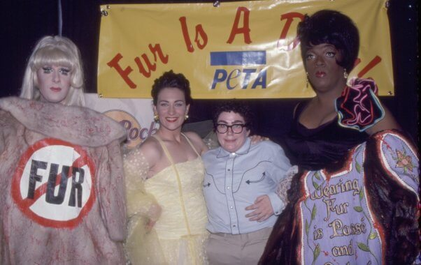 #throwback PETA post from the 90s: Fur Is a Drag