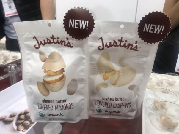 justins covered almonds and cashwers - new for 2019