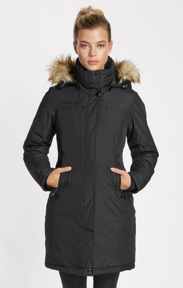 NOIZE faux fur lined coat