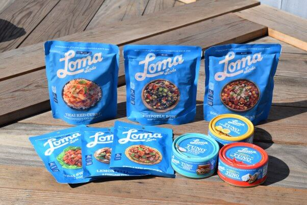 loma linda tuno and packaged vegan meals