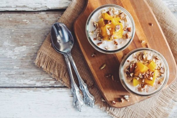 Peach overnight oats from Hot for Food blog