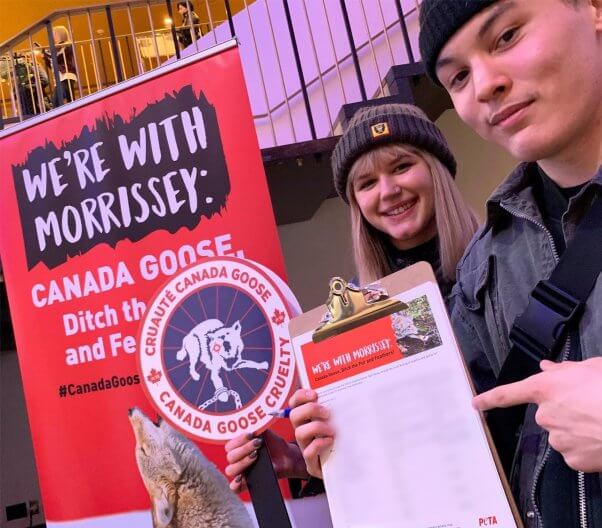 Morrissey fans sign Canada Goose petition