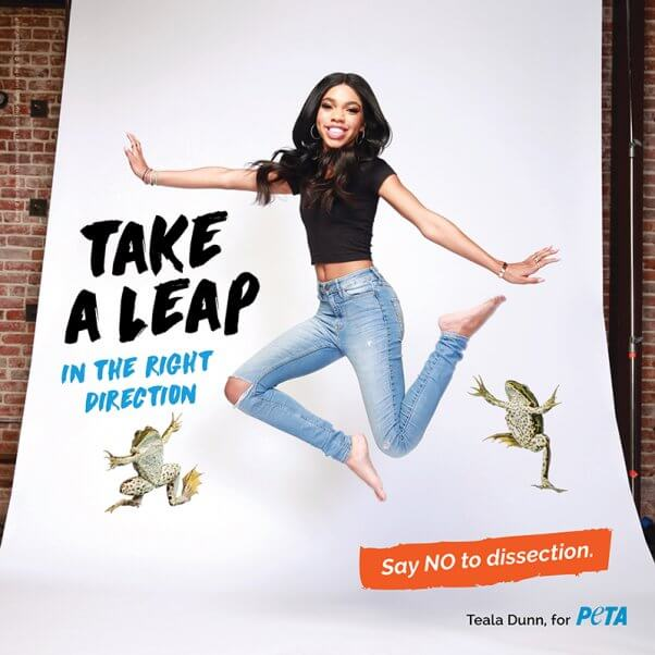 Teala Dunn Say No to Dissection PETA ad