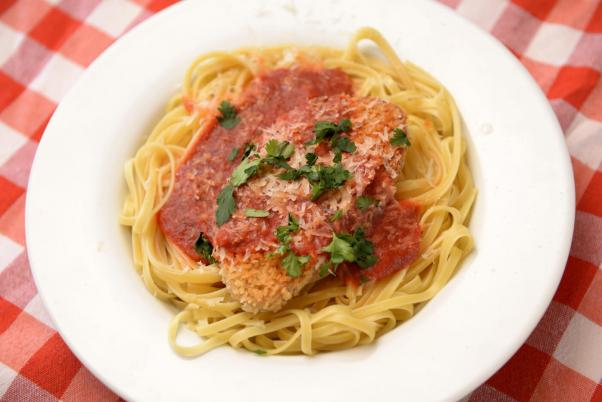 Vegan Chicken Parmesan Linguine Recipe