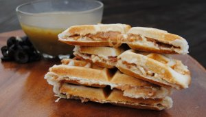 Bean and 'Cheese' Waffles