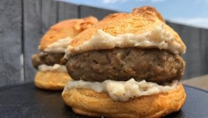 Biscuit and Gravy Breakfast Sandwich
