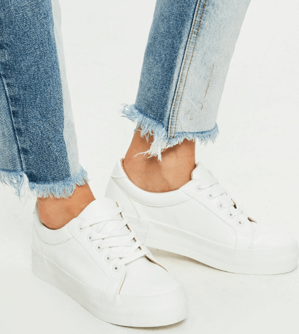 The Cutest '90s Style White Sneakers Are Vegan | PETA