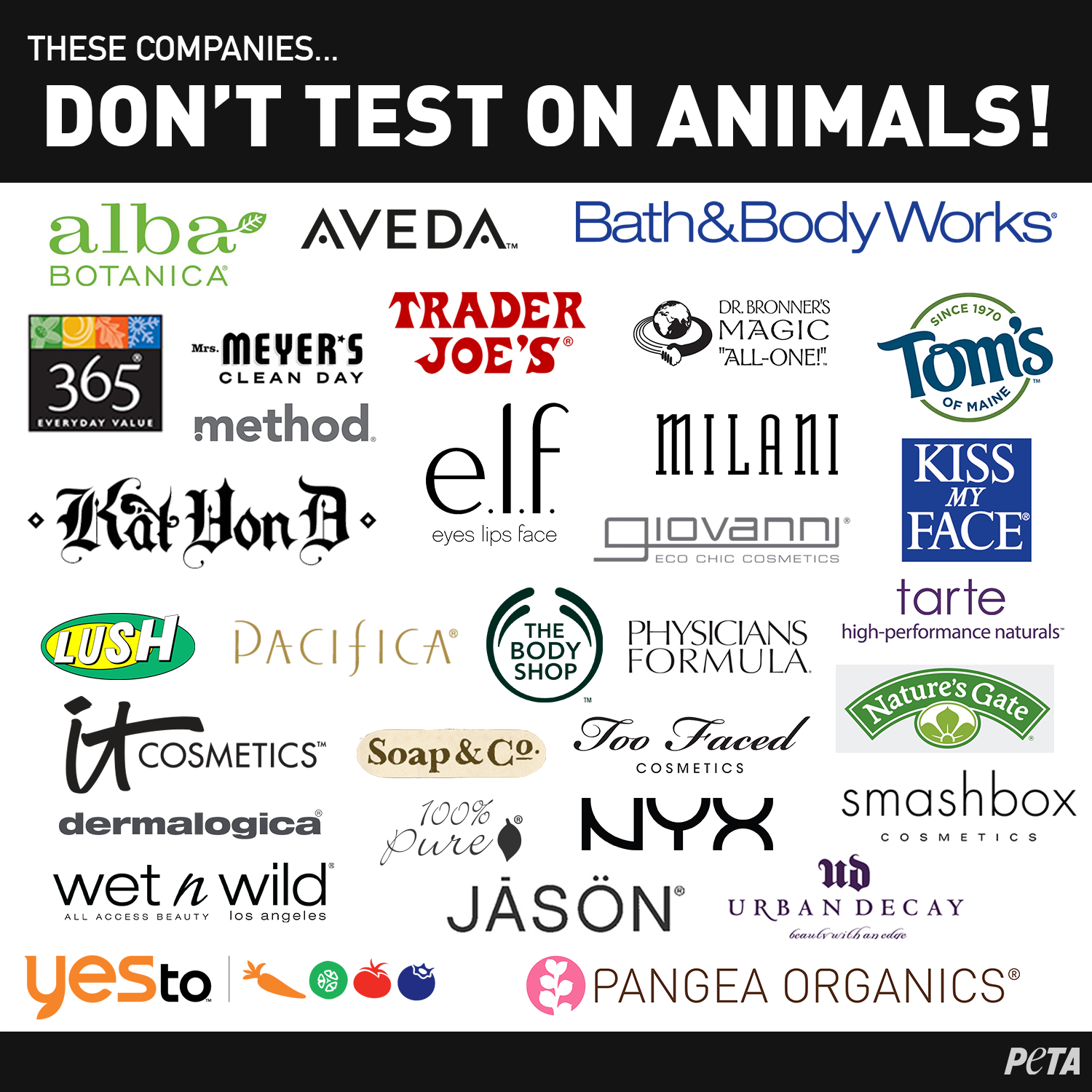 By purchasing products solely from cruelty-free companies, you'll be helping to end cruel tests on animals, while sending a powerful message to the ...
