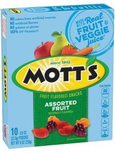 Motts Fruit Flavored Snacks Vegan
