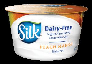 Silk Dairy Free Vegan Soy Yogurt Peach Flavored