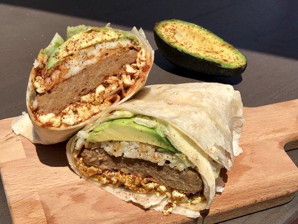 vegan food, burrito, vegan burrito