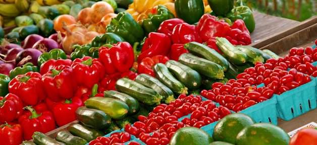 Fresh Produce and Fruits and Vegetables in a super market