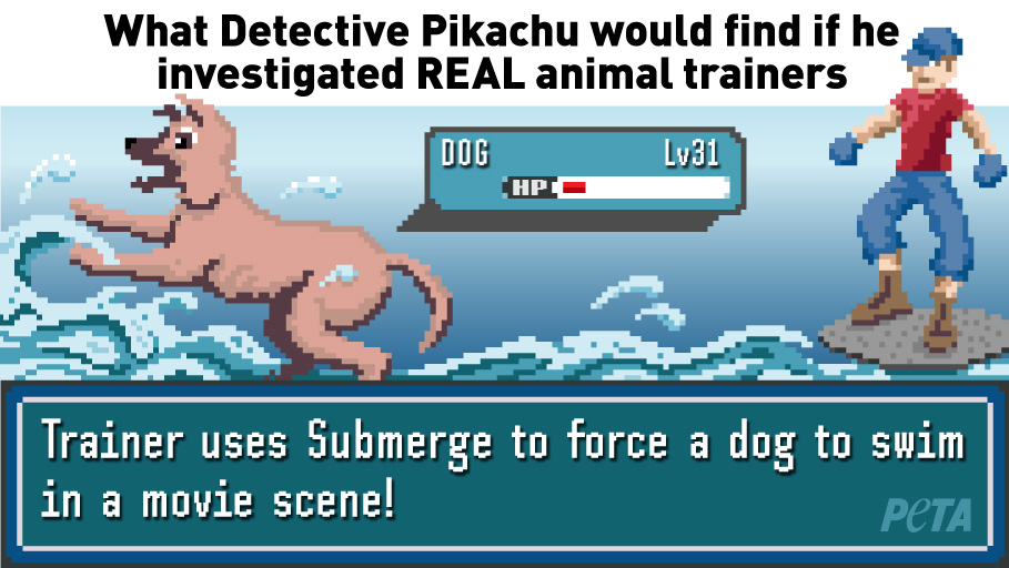 PETA parody detective pikachu investigates real animal trainers 2019