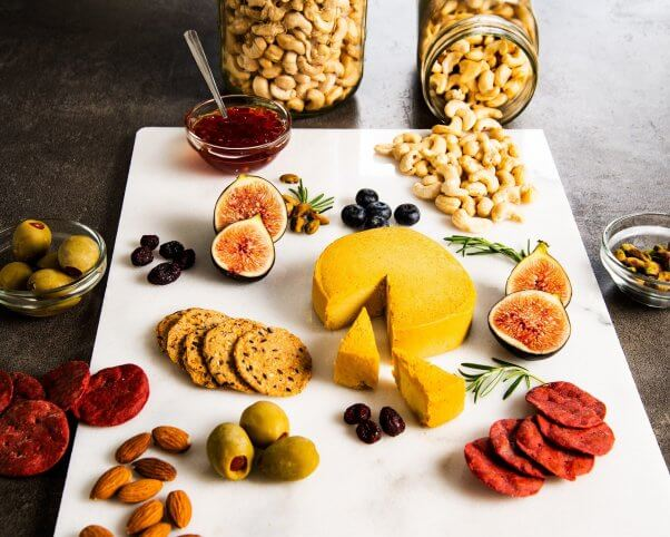 Stokes Vegan Cheese on a Cheeseboard